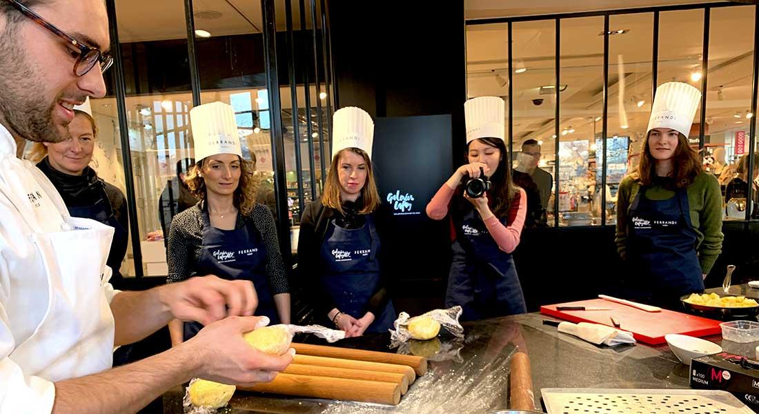 Galeria Lafayette, curso de culinária com Escola Ferrandis