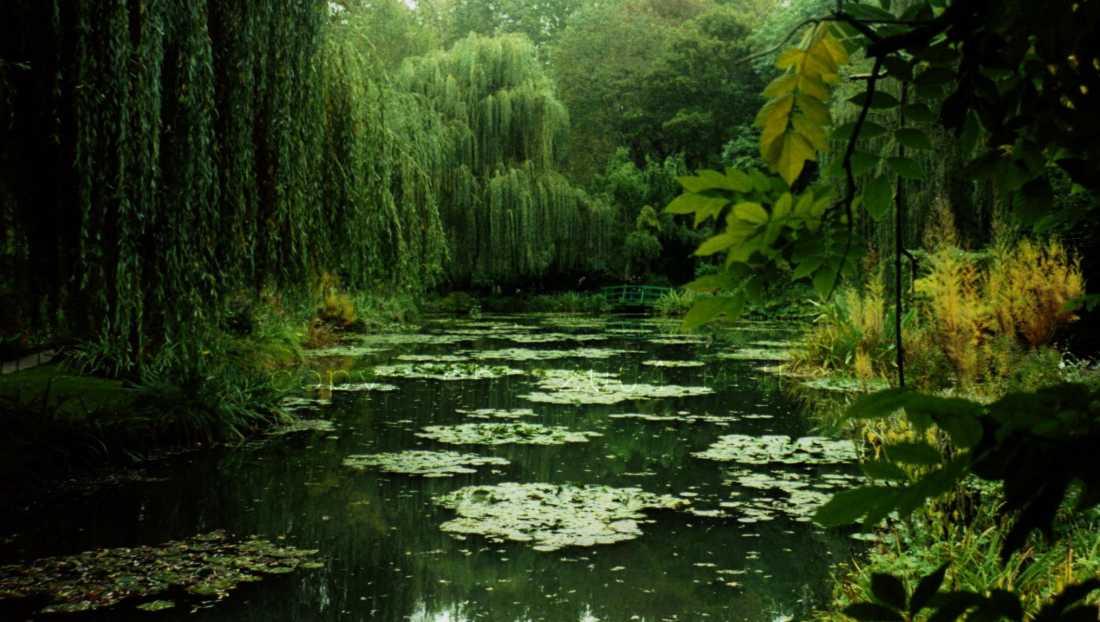 Os jardins de Monet, em Giverny, nos arredores de Paris.