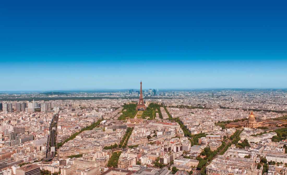 Vista de Paris do alto da Torre Montparnasse
