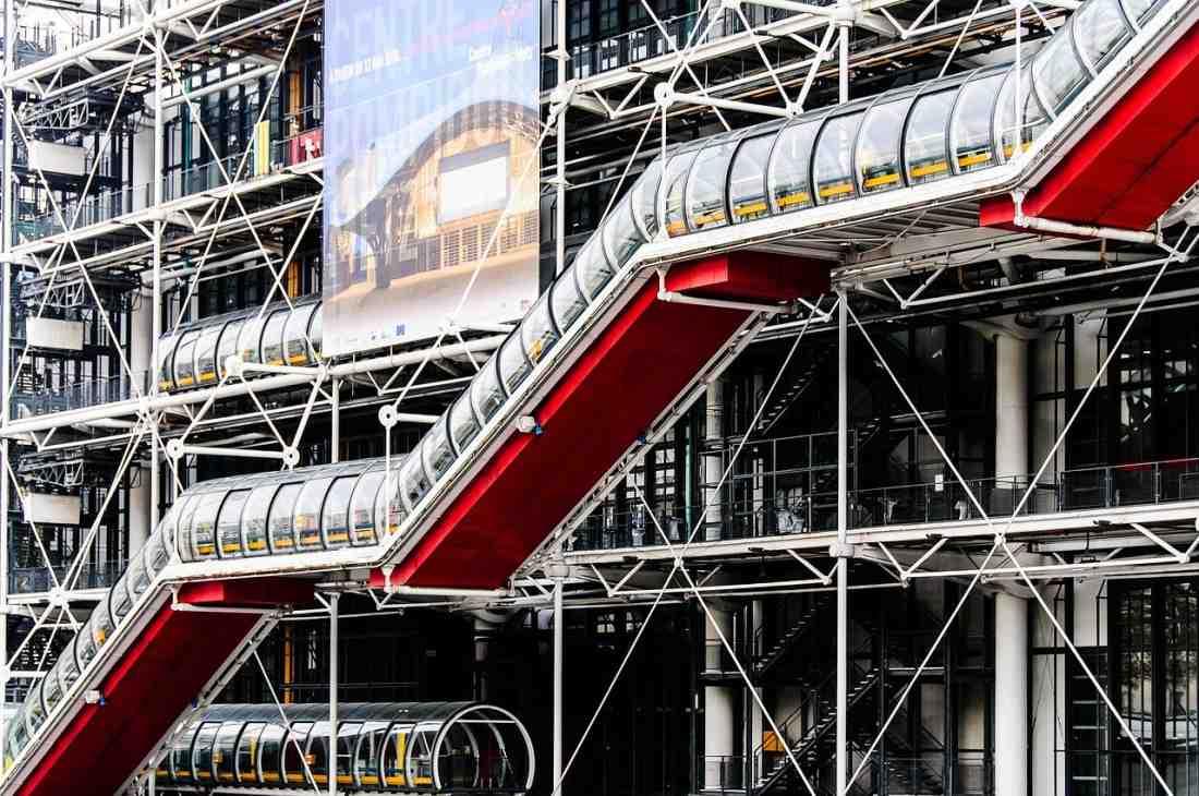 O Centre Pompidou, em Paris