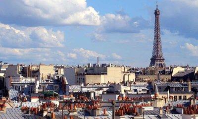 telhados de paris e torre eiffel