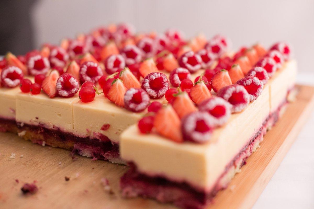 torta frutas vermelhas morango framboesa